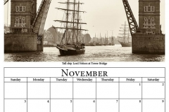 L - November - On The Thames 2019 Calendar