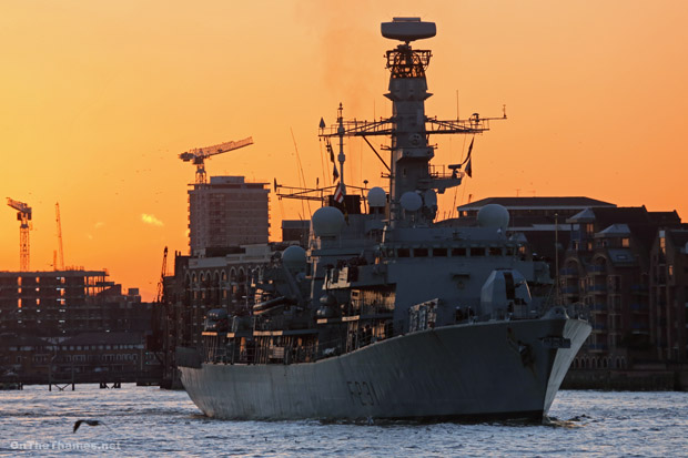 HMS ARGYLL had been in London since Wednesday