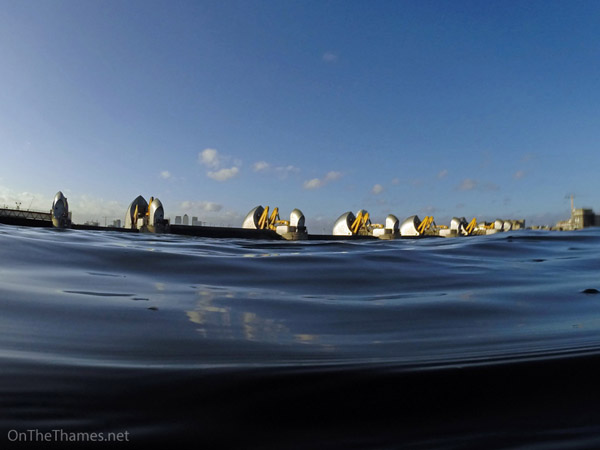 THAMES BARRIER SHUTS ON ANNIVERSARY