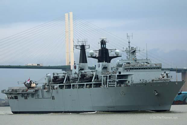 HMS BULWARK LEAVES LONDON