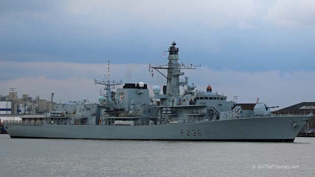 HMS MONTROSE VISITS LONDON