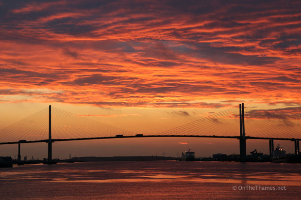 DARTFORD BRIDGE SUNSET