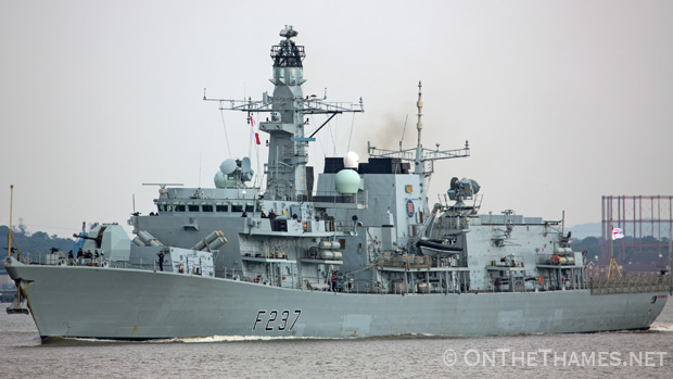 HMS WESTMINSTER VISITS LONDON