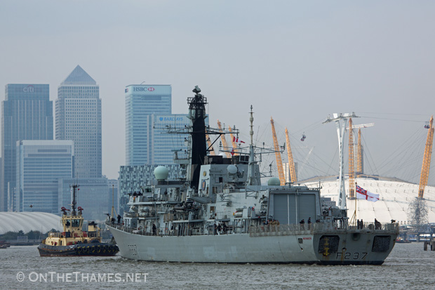 HMS WESTMINSTER VISITS LONDON