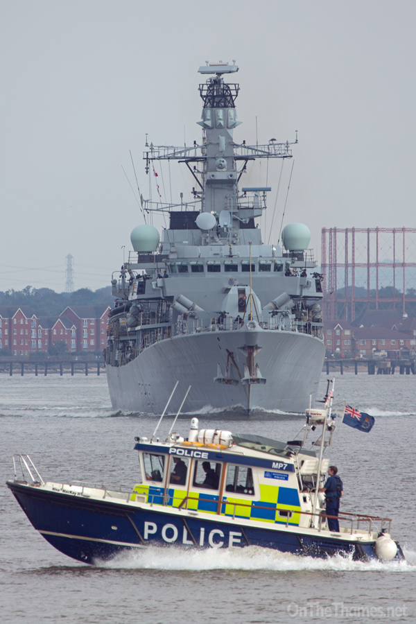 HMS WESTMINSTER IN LONDON