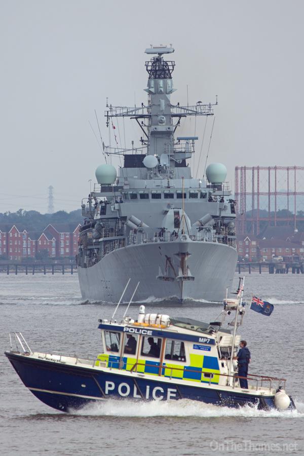 HMS WESTMINSTER IN LONDON