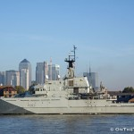 HMS Mersey visits the Thames