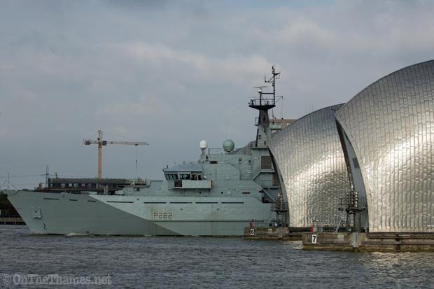HMS SEVERN ARRIVES IN LONDON