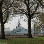 HMS Severn begins a six day visit to London