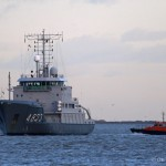 Dutch naval hydrographic vessel visits London