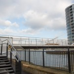New footbridge joins the Thames Path at Deptford Creek