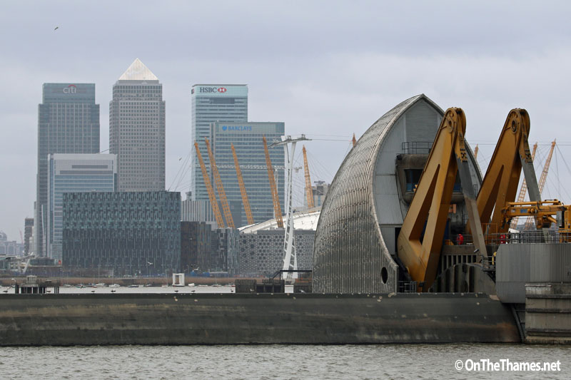 THAMES BARRIER 175TH CLOSURE