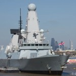 HMS Defender in London to mark centenary of Battle of Gallipoli
