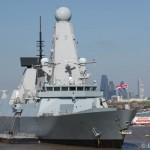 HMS Defender in London to mark centenary of Battle of Gallipoli