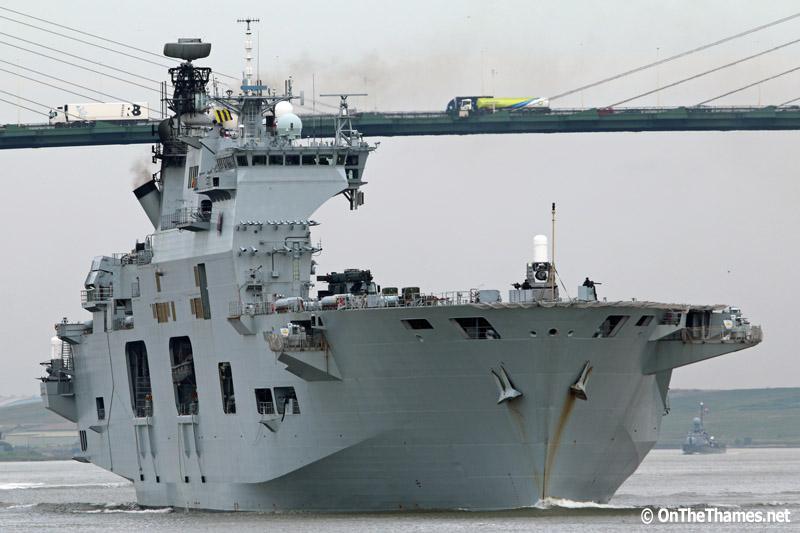 HMS OCEAN DEPARTS LONDON