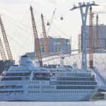 Cruise ship Silver Cloud arrives in sunny London