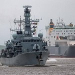 HMS St Albans in London for 8 day visit