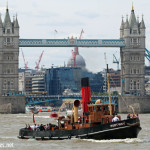 Portwey steams past London landmarks