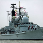 HMS Edinburgh leaves Portsmouth to be scrapped