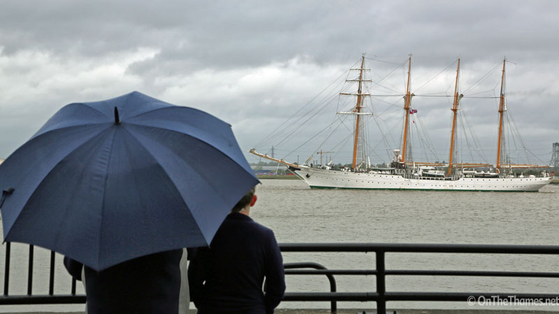 TALL SHIPS RAINY LONDON