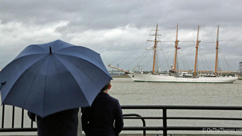 TALL SHIPS RAINY LONDON
