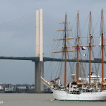 Sailing training ship Esmeralda arrives in London