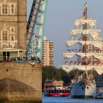 ARC Gloria's spectacular arrival through Tower Bridge