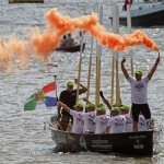 Dutch Marines Rowing Challenge in colourful finish at Tower Bridge