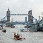 Thames salute to the Queen's long reign