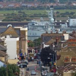 HMS Portland in London visit