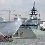 HMS Severn arrives to mark London Fire Brigade anniversary