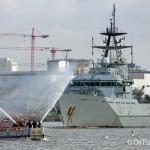 HMS Severn arrives to mark London Fire Brigade anniversary