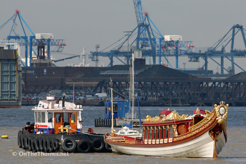 Gloriana Leaves Denton Wharf After Her Winter Storage To