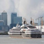London cruise season begins with L'Austral coming up the Thames