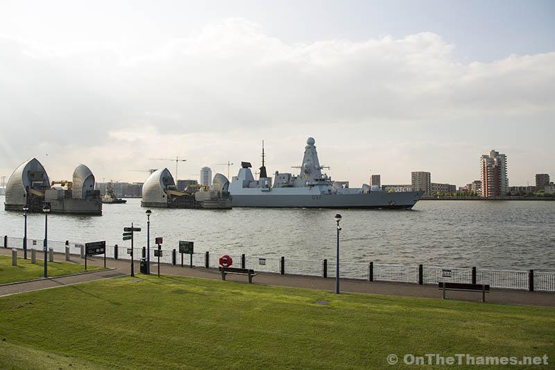 HMS Duncan Leaves London