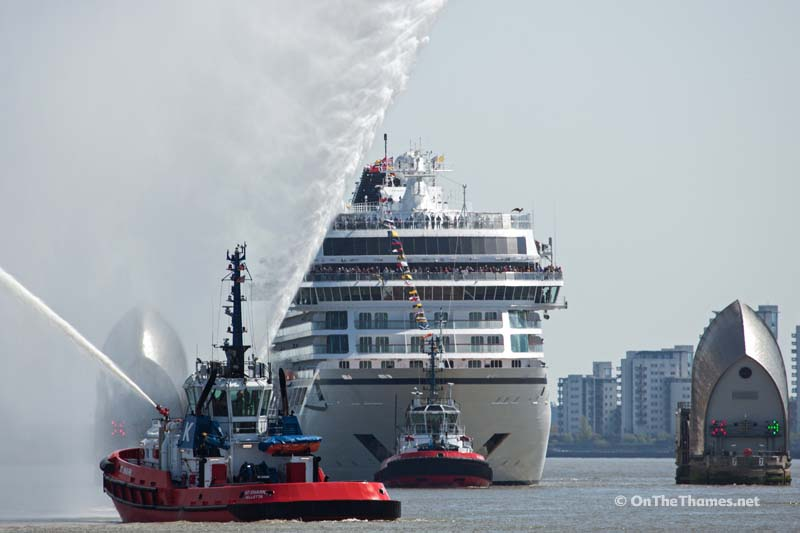 Photos Cruise Ship Viking Sea Christened On The River Thames