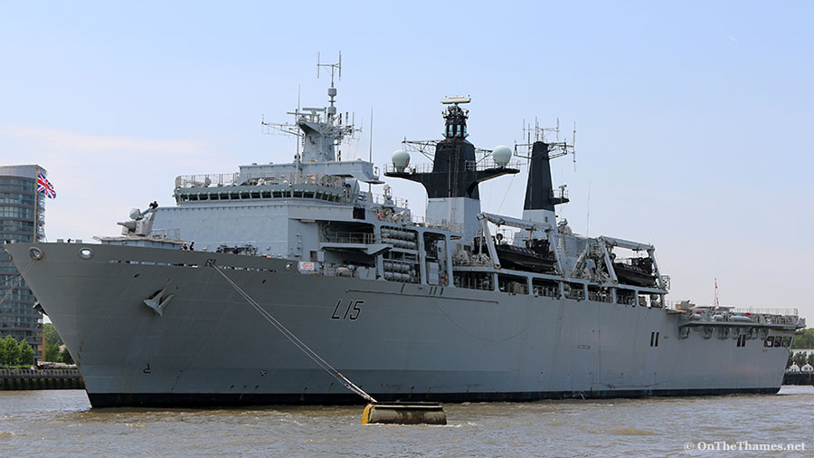 HMS Bulwark arrives in London