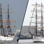 Tall ships arrive in London from Mexico and the United States