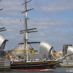 Clipper ship Stad Amsterdam visits London