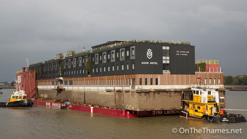 The Good Hotel : The good hotel london floatong hotel pictured arriving on the thames
