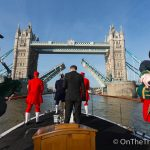 The Thames pays its respects to the fallen on Armistice Day