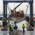QRB Gloriana arrives at Denton, Kent, for winter storage