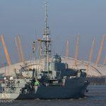 FGS Oker sails down the Thames