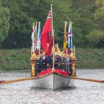 Gloriana leads Tudor Pull from Hampton Court to the Tower of London