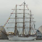 Brazilian sail training ship Cisne Branco arrives in London