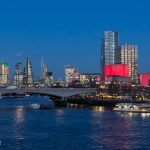 Super blue blood moon appears over the Thames