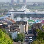 Longest cruise ship ever on the Thames arrives at Tilbury